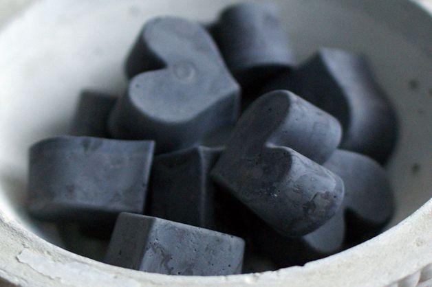 Imanes de cemento en forma de corazón - accesorios para el hogar - hecho a mano - en DaWanda.es