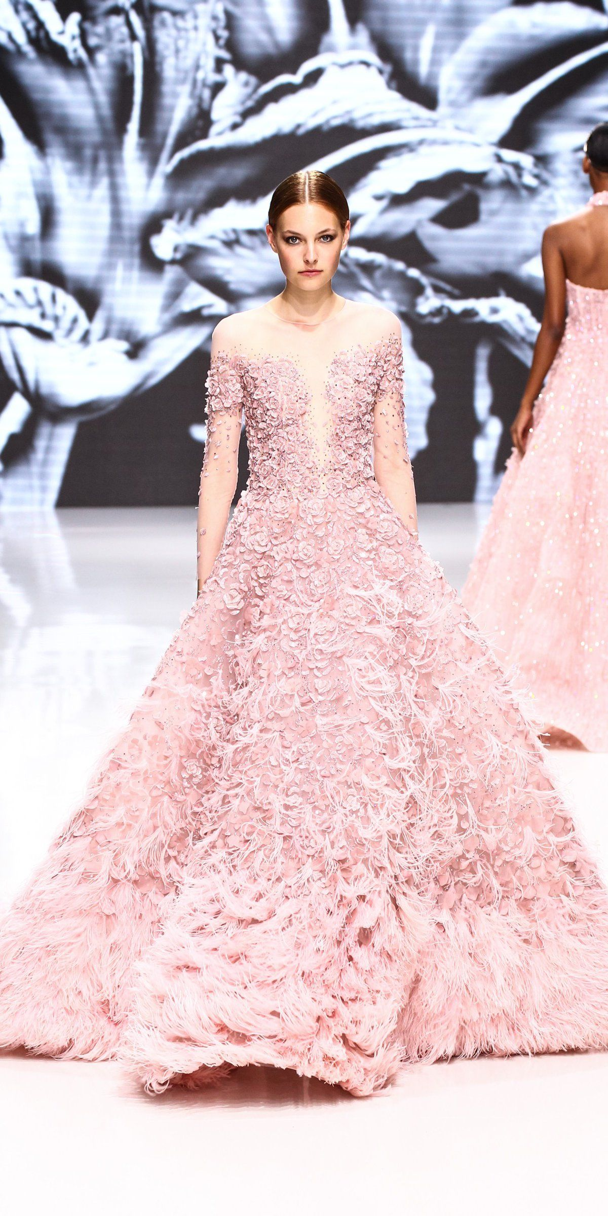 Pink snowflakes - 19 pink Haute Couture gowns this Winter ...