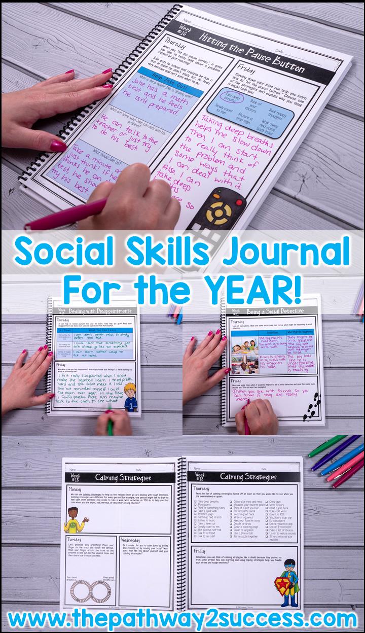 Social Skills Journal Distance Learning Teaching