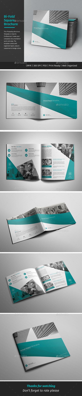 Corporate BiFold Square Brochure   Brochure Template