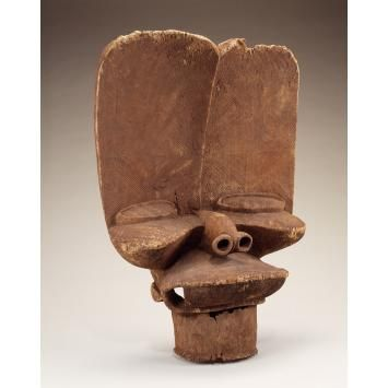 Collections | National Museum of African Art - Maker: Bamileke peoples  Crest mask Date: Late 19th century Medium: Wood  https://africa.si.edu/collections/view/objects/asitem/6521/2/title-asc?t:state:flow=c5cc8daf-2d28-4df8-b25d-f14a492992e1