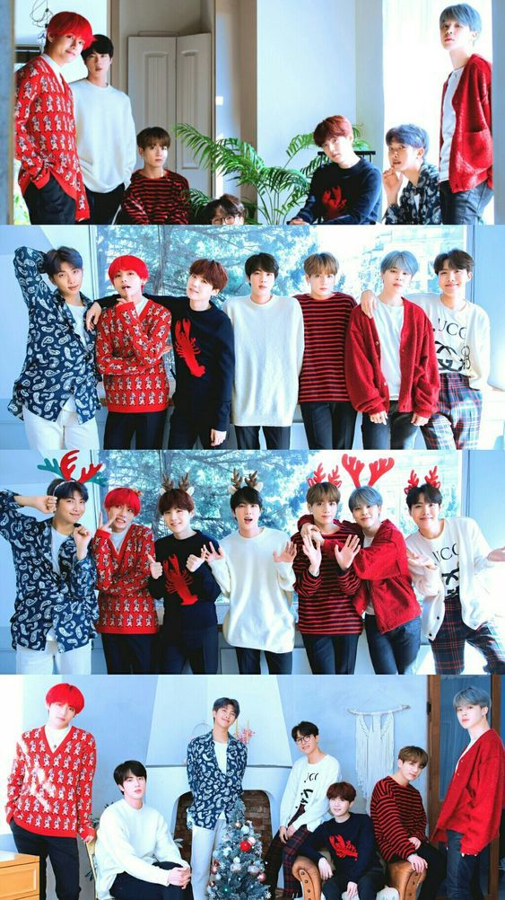 Bts X Dispatch Merry Christmas Bts Group Bts Wallpaper Bts Christmas