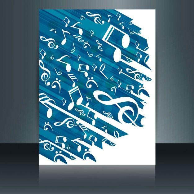 Musik-Broschüre Kostenlose Vektoren | Flyer | Pinterest | Broschüren ...