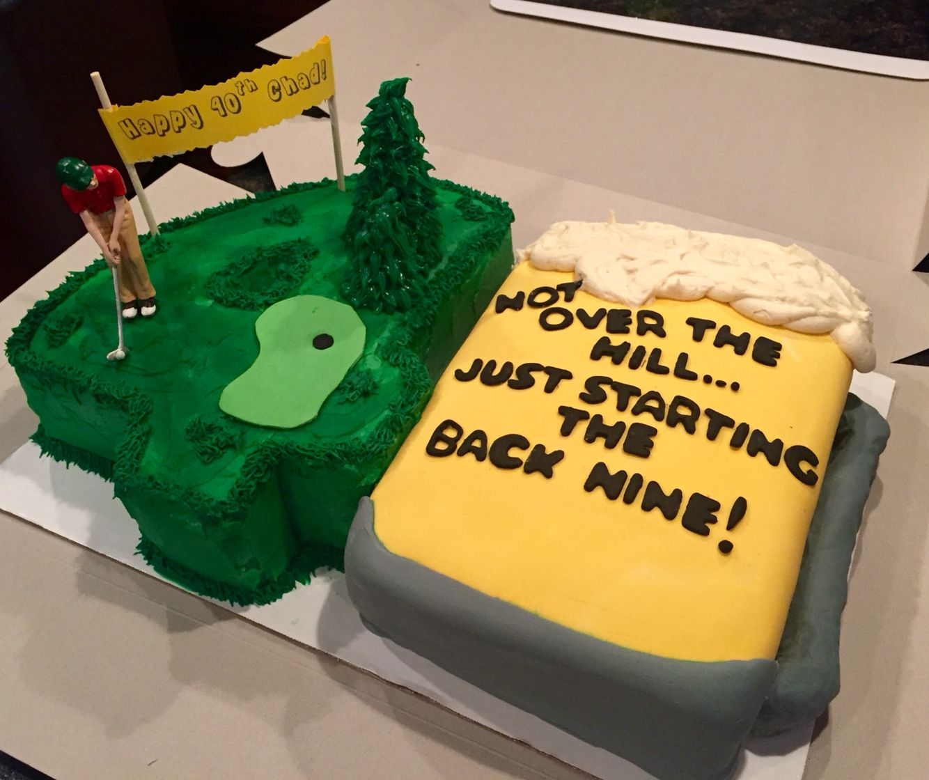 Fabulous Golf And Beer Themed Cake For 40Th Birthday Dad Birthday Cakes Funny Birthday Cards Online Alyptdamsfinfo