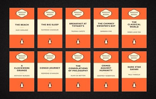 Notice the absence of decorative elements in this series of Penguin covers by Tschichold.