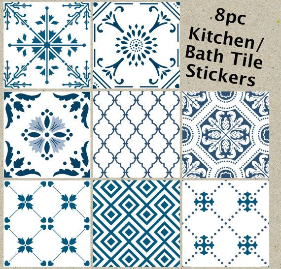 Tile stickers for kitchen bathroom waterproof removable - Marokkanische fliesen aufkleber ...