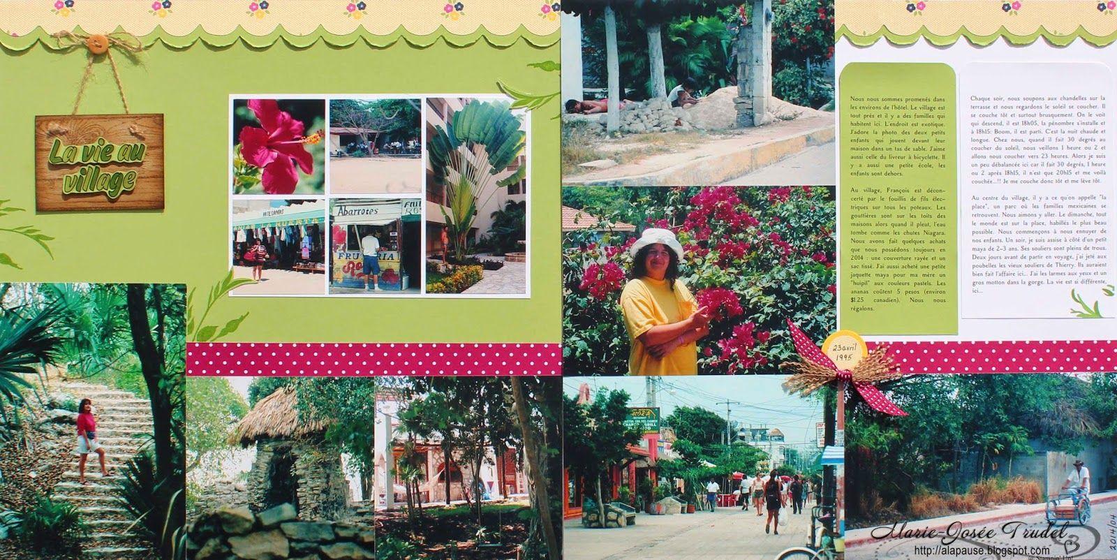Hardwood (mini), Fabulous Florets, Scrapbooking Marie-Josée Trudel Stampin' Up! SU, voyage playa del carmen