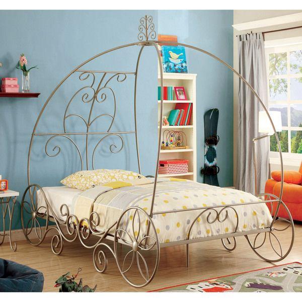 Furniture of America Princess Dream Carriage-Inspired Champagne ...