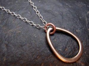Bronze, copper, silver necklace
