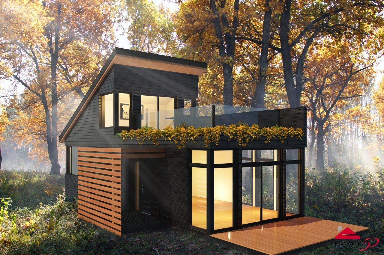 NANÖ: 2 étages 960 pi2 | Extérieur | Mini maison, Maison ...