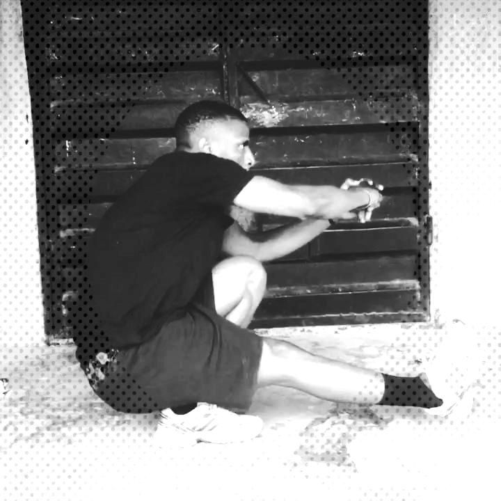Pistol squats. Not straight enough.