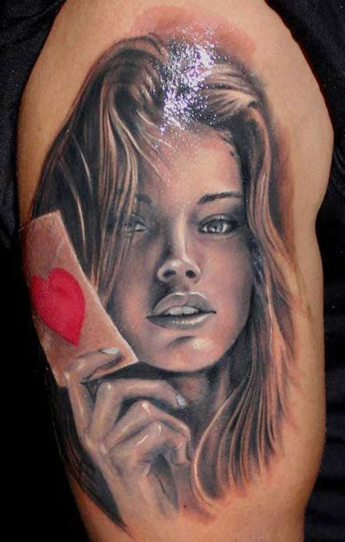 Nice Portait Tattoo Of Woman Face Tattoos For Women Girl Face