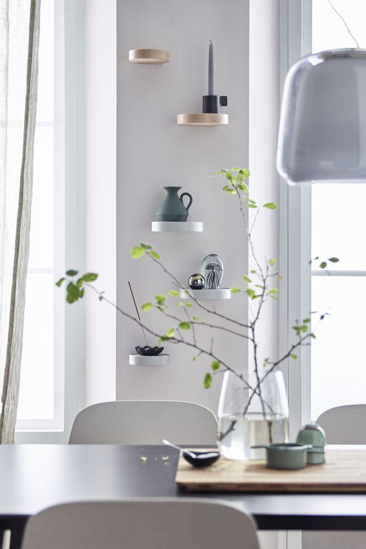 Wall shelf SAMMANHANG metal, glass Furniture, Wall