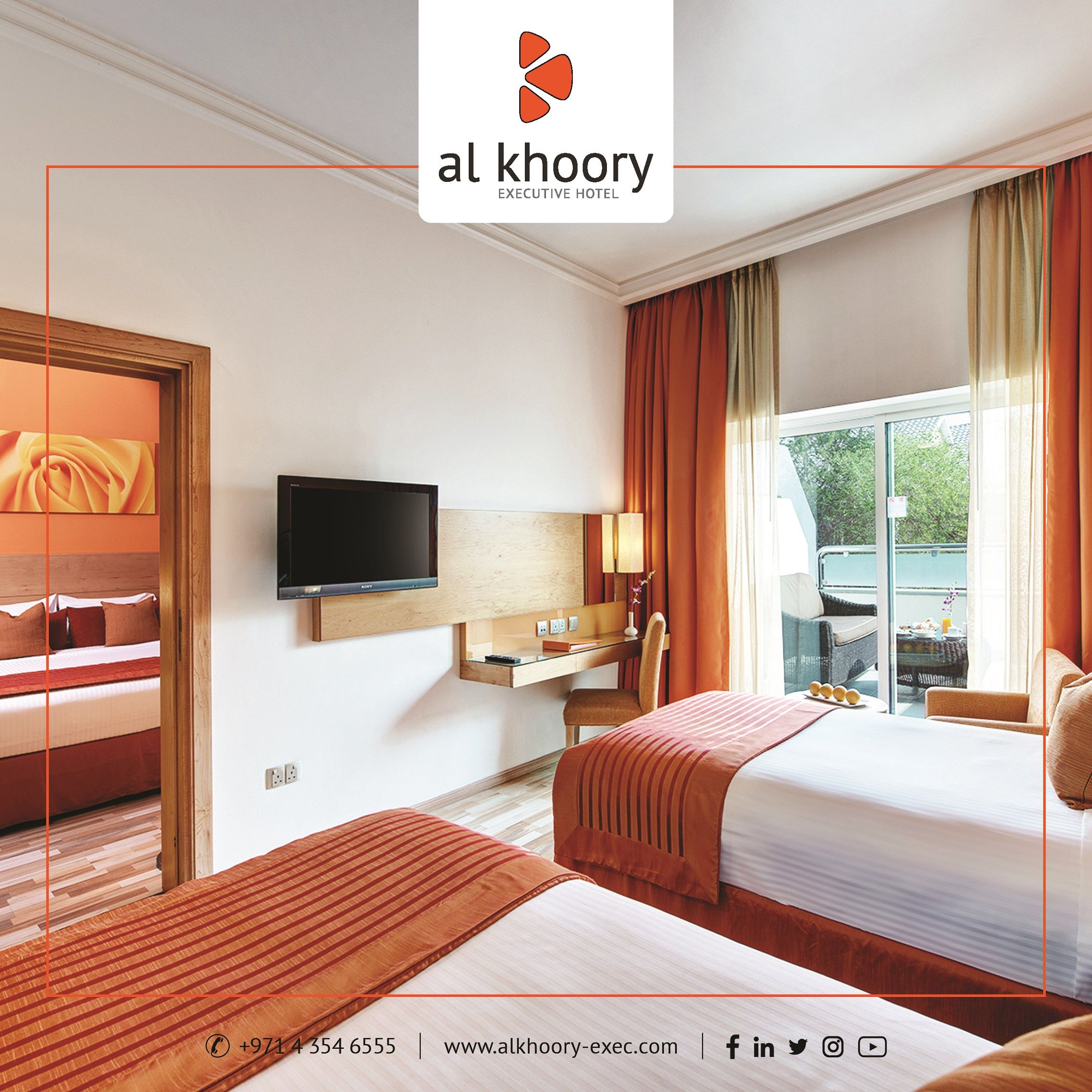 Interconnecting Rooms at Al Khoory Executive Hotel in 2020