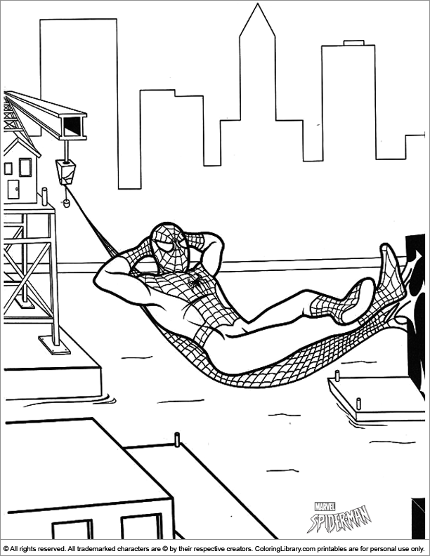 Spider Man Coloring Page Spiderman Coloring Free Online Coloring Coloring Pages