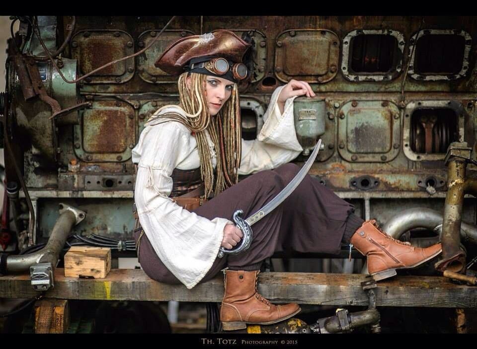 steampunk piratin steampunkpiratin luftschiffpiratin steampunkr uber lumpenpack gesindel. Black Bedroom Furniture Sets. Home Design Ideas