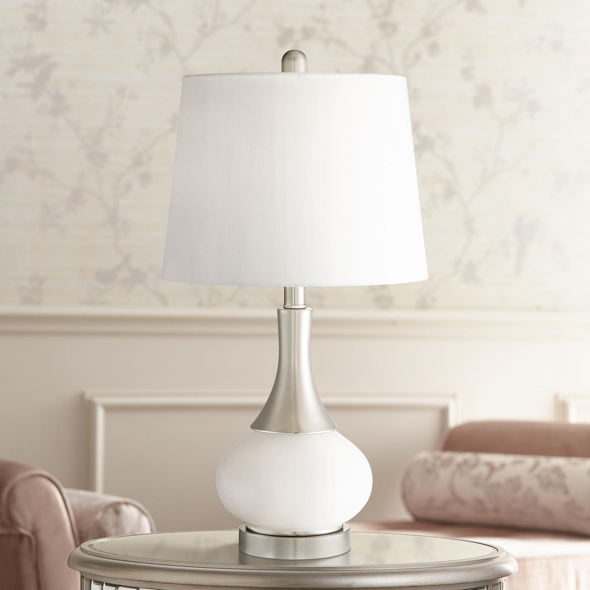 Serrena White Glass Night Light Table Lamp   Table lamp
