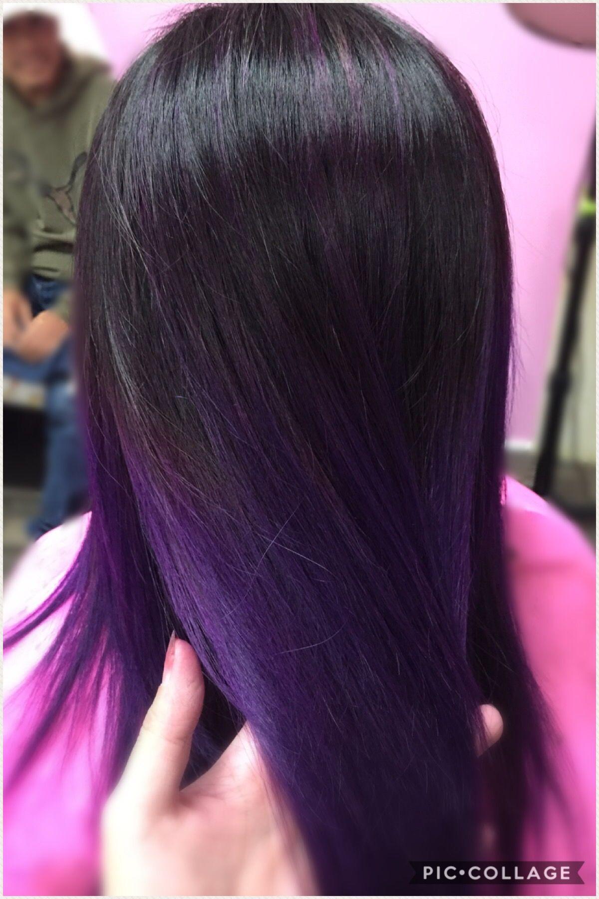 Purple ombre beautiholic rock salon pinterest purple ombre