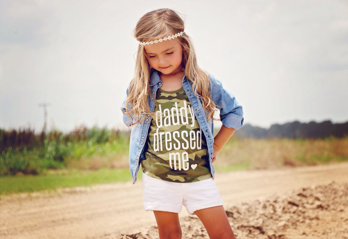 """Daddy Dressed Me"", kids style, girls clothing"