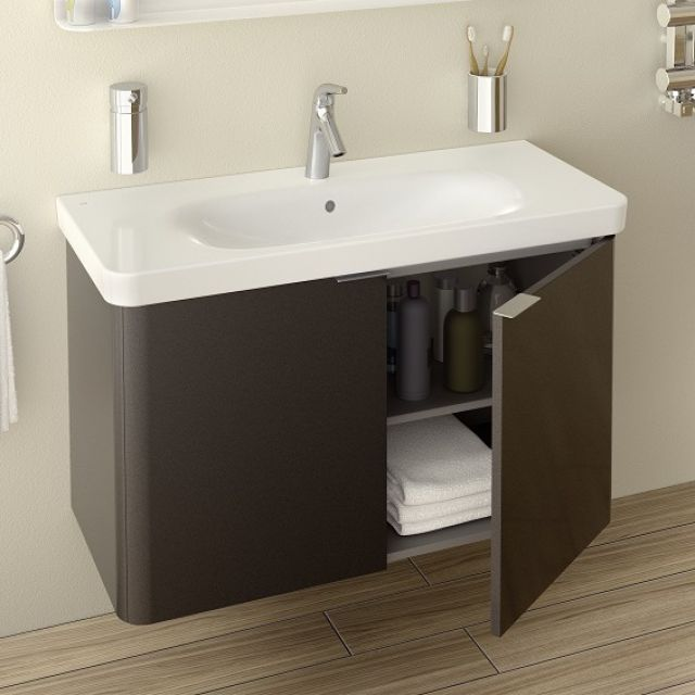 Vitra Nest Wall Hung Unit And Basin 3 Sizes 4 Colours Wall Hung Bathroom Vanities Bathroom Sink Vanity Units Corner Bathroom Vanity