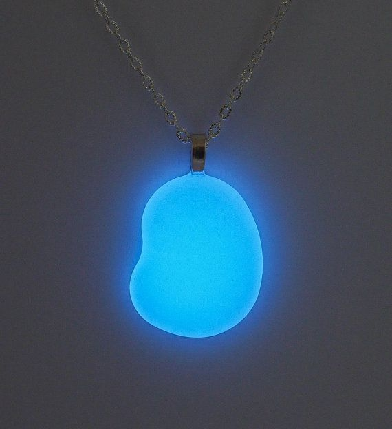 Simple glowing stone necklace blue glow stone pendant glowing simple glowing stone necklace blue glow stone pendant glowing jewelry retro necklace blue stone space age futuristic jewelry aloadofball Image collections