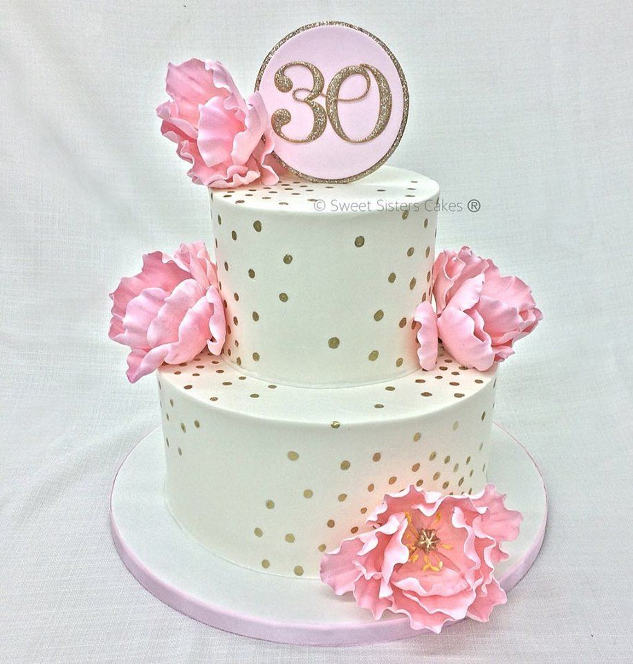 Celebrate your 30th in style with a cake like this from sweet celebrate your 30th in style with a cake like this from sweet sisters desserts izmirmasajfo Images