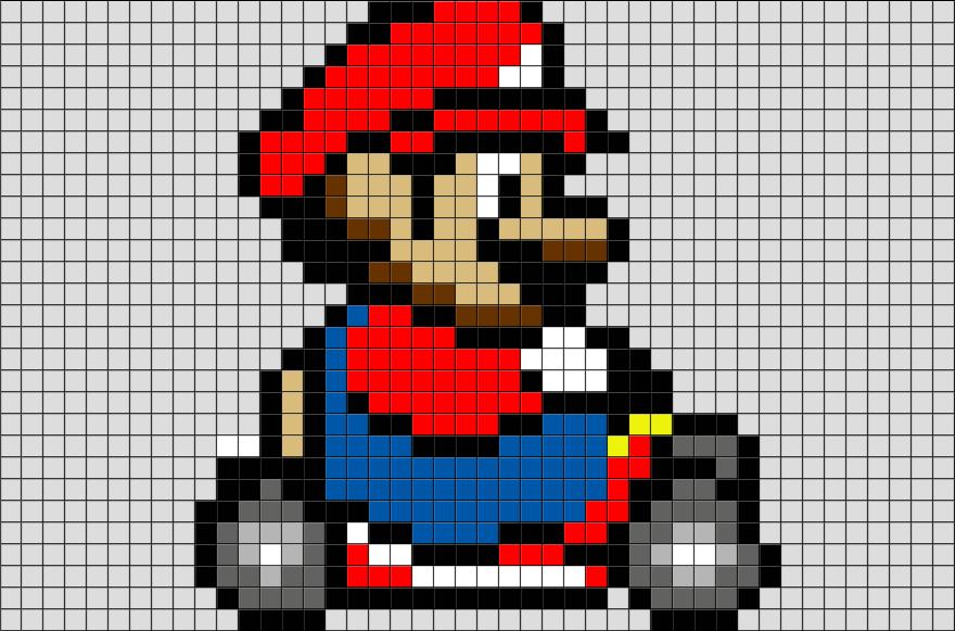 Mario Kart Pixel Art Pixel Art Pixel Art Templates Art