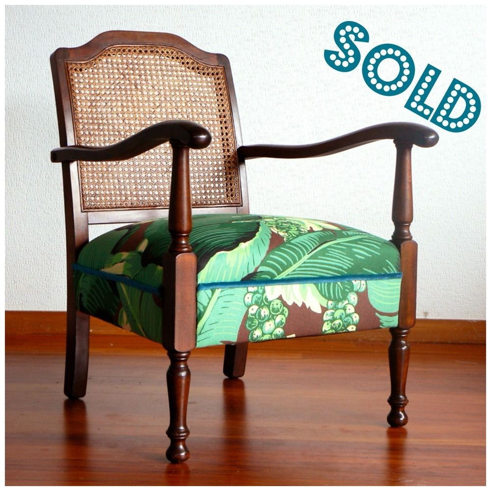 A Gorgeous 1940s Occasional Chair With A Cool Cane Lattice Back. The  Woodwork Has Been
