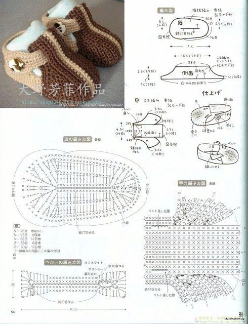 Patrones para zapatos de bebé en crochet - Crochetisimo | BEBOTES ...