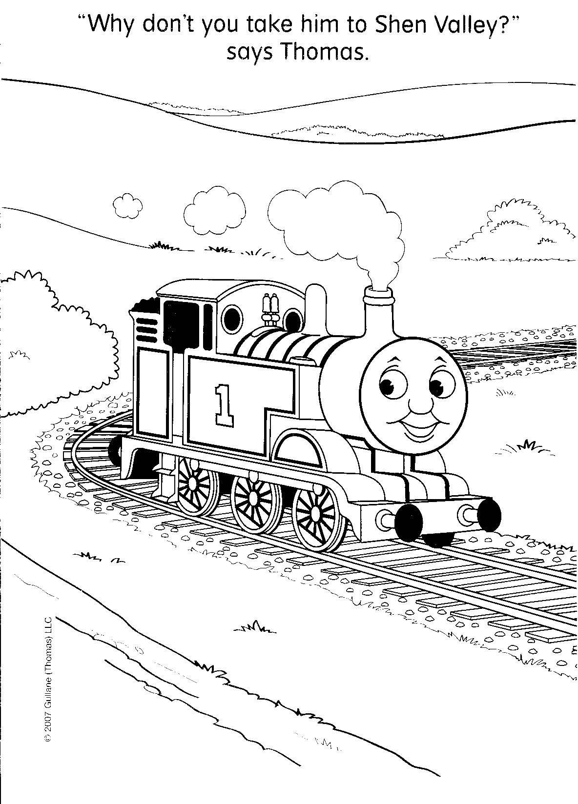 thomas the train color page - Google Search | I like to color ...