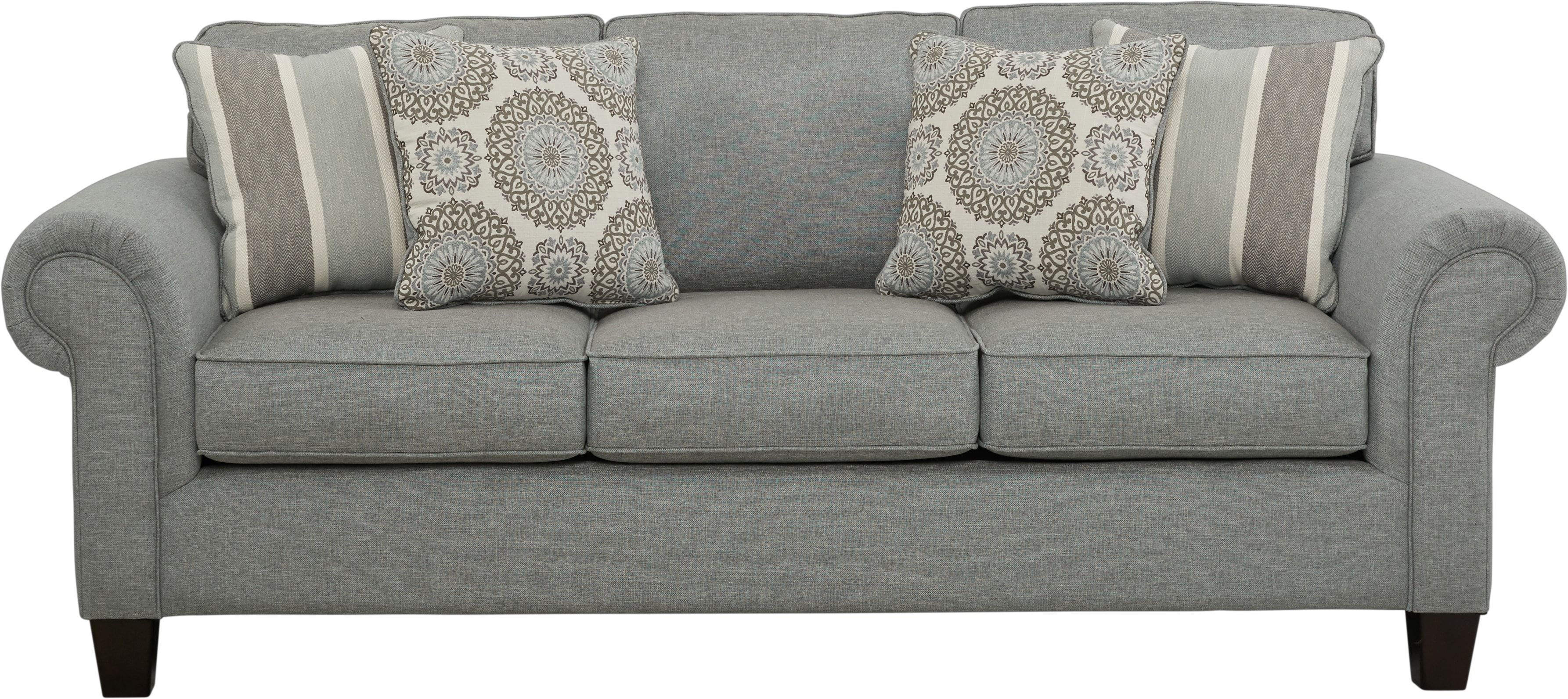 Pennington Blue Sofa White Couch Living Room Brown Couch Living