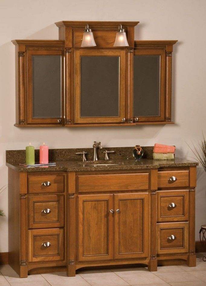 Extend Vanity Light Over Medicine Cabinet : woodpro+breakfront+vanity Free Shipping on All traditional bathroom Furniture in the ...