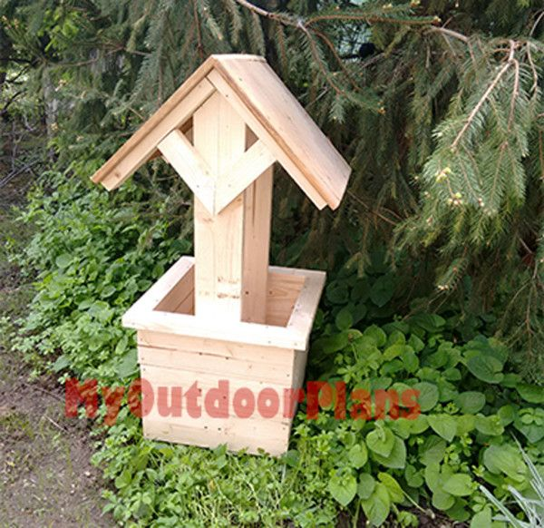 How To Build A Wishing Well Planter Free Outdoor Plans Diy Shed Wooden Playhouse Bbq Woodworking Projects Play Houses Wooden Playhouse Diy Shed