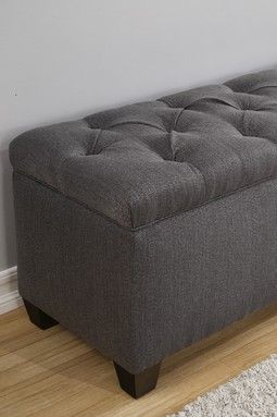 The Sole Secret Charcoal Upholstered Shoe Storage Bench