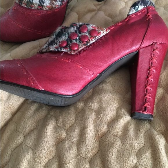 Red leather stitched heels Even Dorothy would wear these red shoes home! Very comfortable and makes a statement! Not rated Shoes