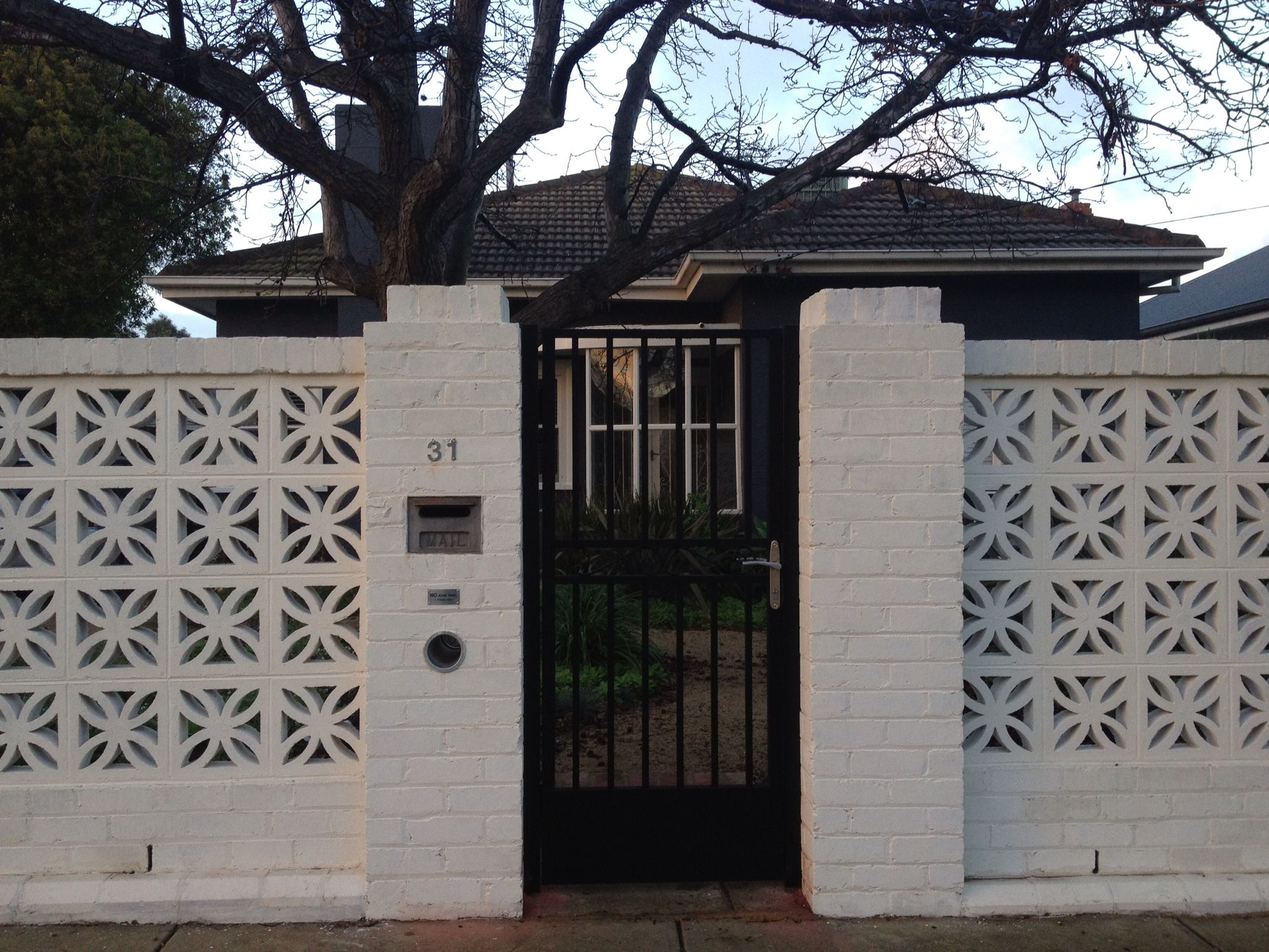 New Front Fence Repurposed From Old Red Bricks And 60S