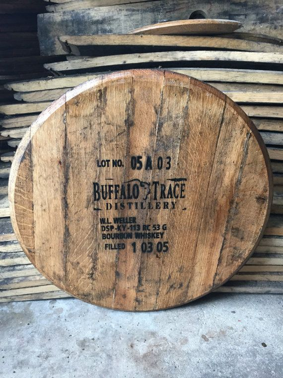 Buffalo Trace Bourbon Whiskey Barrel Head Barrel Table Barrel