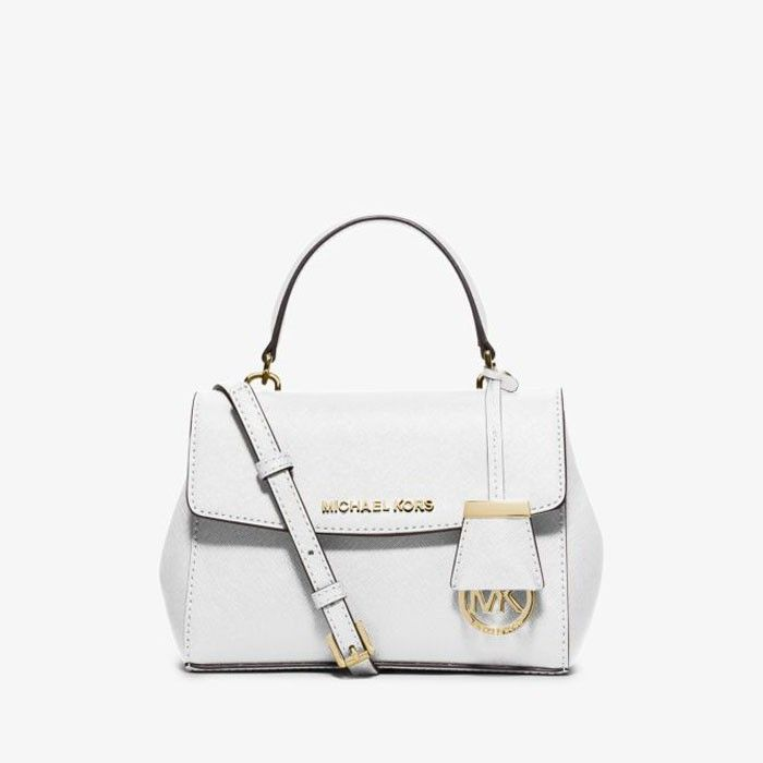 MICHAEL Michael Kors Ava Extra-Small Saffiano Leather Crossbody Bag White f3cfbeb90c6