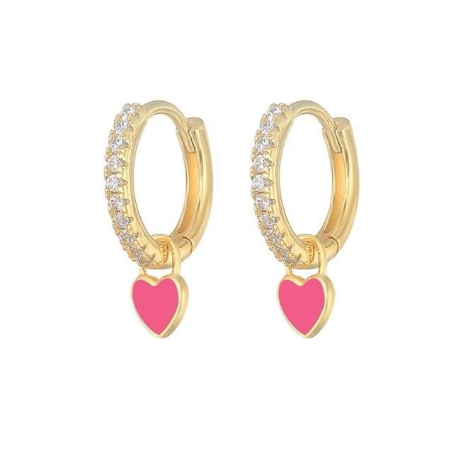 Aros: Cartilage EarringsBrincos: Hoop Earrings BulkKolczyki Damskie: Hoop EarringsPendientes: Earrings for Women GirlsExpress Free Shipping: Orders > 150usd Free DHL EMS Fedex IPFedex IEFactory: Yes , Support Drop Shipping and WholesaleGift for: Mother/Lover/Wife/Girl Friend/DaughterOccasions: Wedding/Engagement/Party/Holiday/Christmas Day925 Sterling Silver Earrings: Gold/Silver Color Hoop EarringsStatement Earrings: Cool Punk Women's EarringsStone: AAAAA Clear CZShapepattern: HeartCertifica