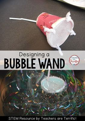 STEM Challenges: Straws are such a great material to use for your STEM projects. They are easy to use, come in many colors and sizes, and they are inexpensive! This task is to build a bubble wand made of straws!