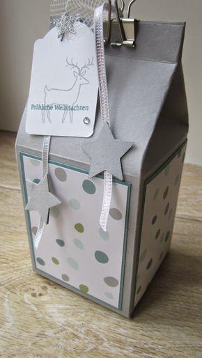 Ein XXL-Milchkarton aus einer A4 Seite mit Anleitung und Maßen
