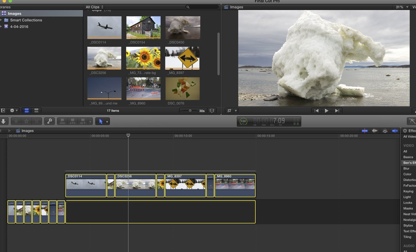 Final Cut Pro X: Change The Duration of Multiple Images in