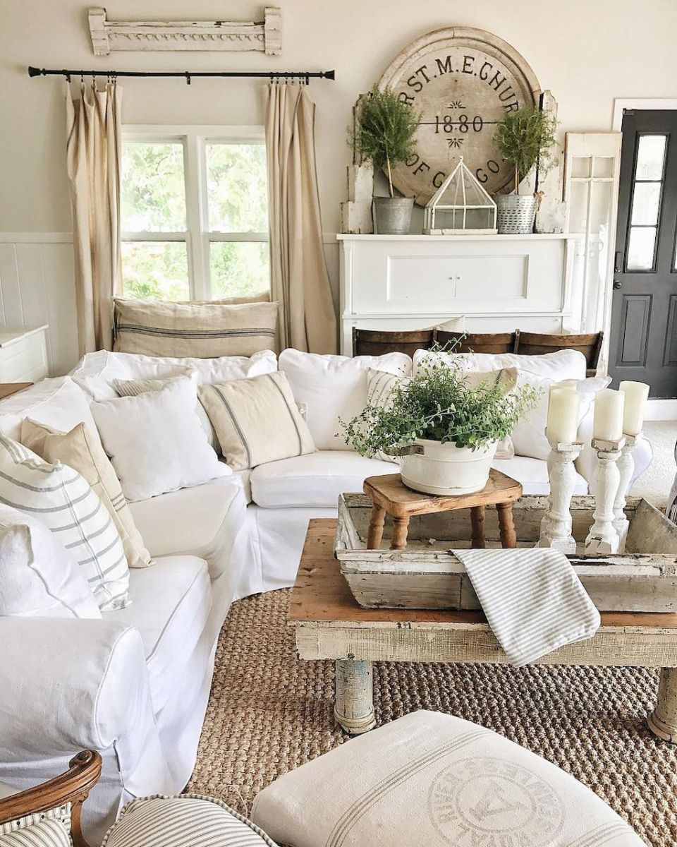 Gorgeous French Country Living Room Decor Ideas (17 | Pinterest ...