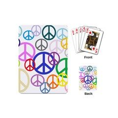 Peace Sign Collage Png Playing Cards (Mini) from Stuff Or Something