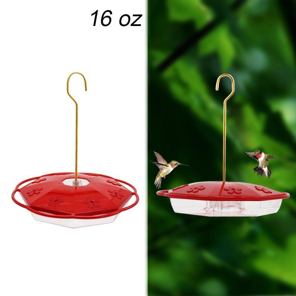 16 oz Hanging Hummingbird Feeder with 8 Feeding Ports for