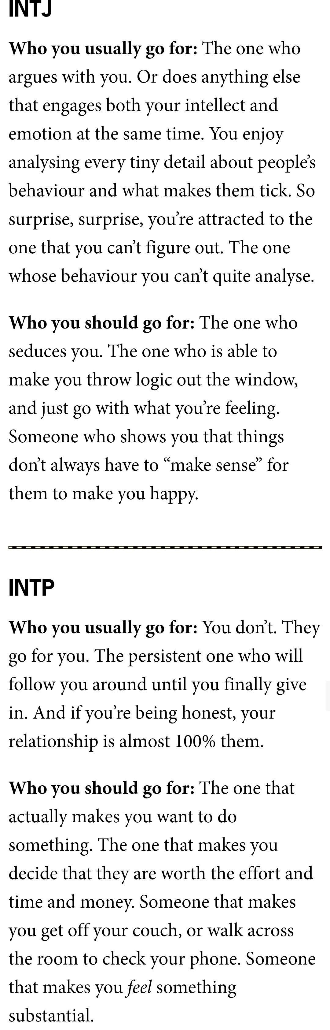 what personality type are you attracted to