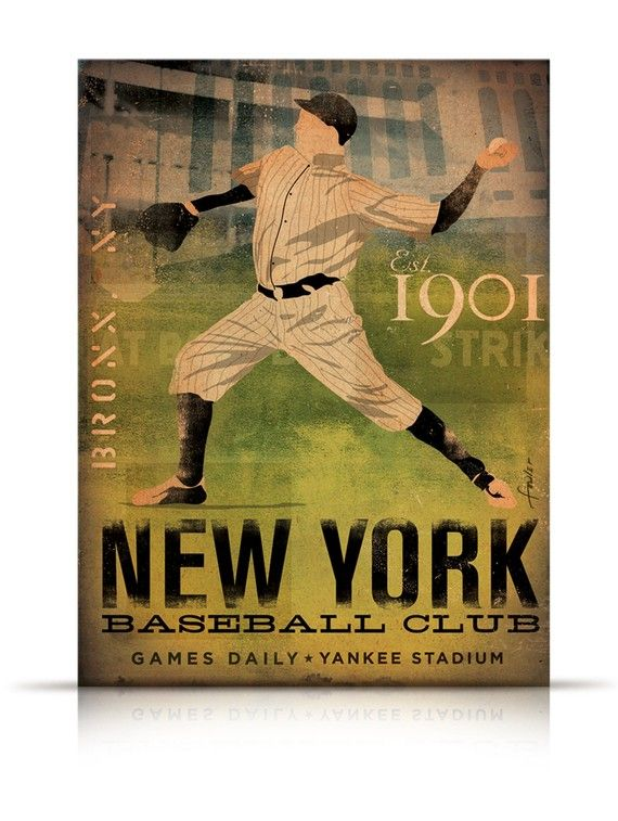 New York Yankees Baseball Club vintage style by geministudio ...