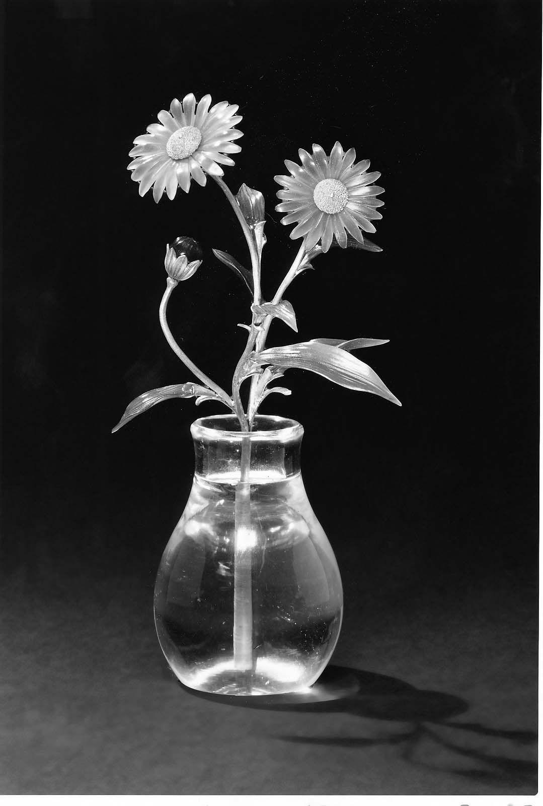 Spray Of Blue Asters Crystal Vase Faberge Aster Flower