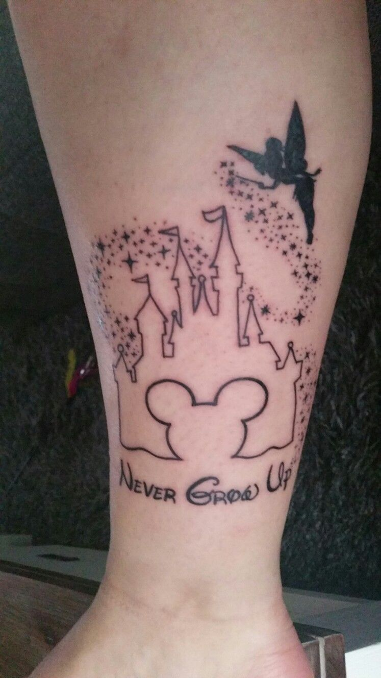 My Never Grow Up Disney Tattoo By Queen Of Rings Rotterdam