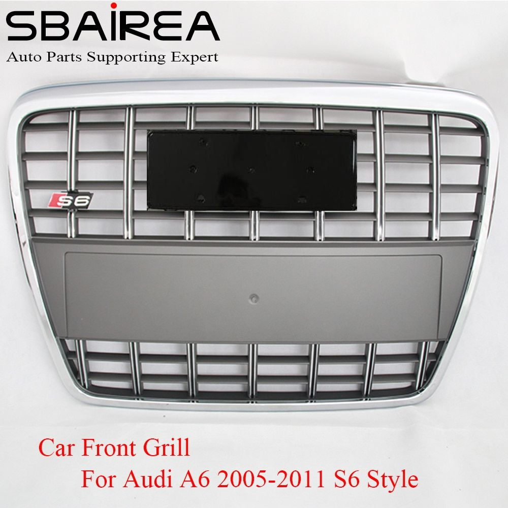 Sbairea Car Racing Grill For Audi A6 Quattro Styling C6 2005 2011 S6